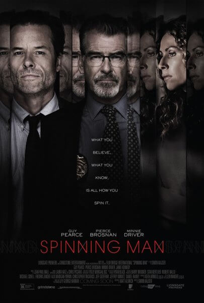 Spinning Man Poster and Trailer
