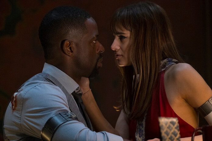 Hotel Artemis Sterling K Brown and Sofia Boutella