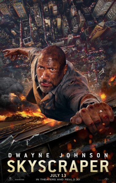 Skyscraper Poster with Dwayne Johnson