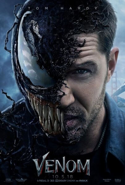 Venom Movie Poster with Tom Hardy