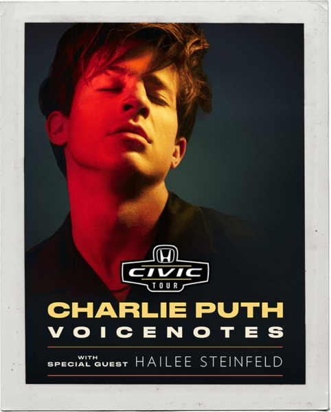 Charlie Puth Headlines The 2018 Honda Civic Tour Dates