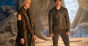 Krypton stars Cameron Cuffe and Wallis Day