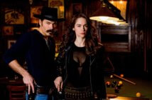Wynonna Earp Season 3 Tim Rozon and Melanie Scrofano