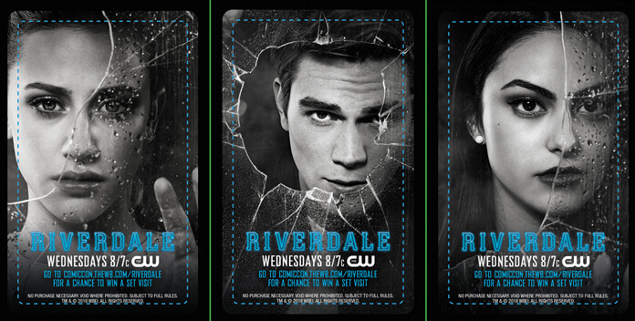 Riverdale San Diego Comic Con Keycards