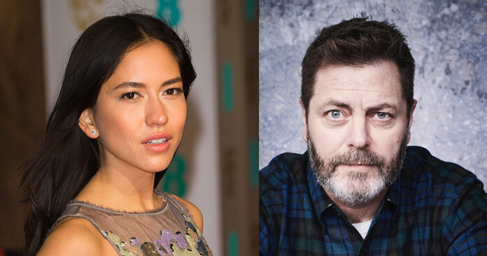 Devs cast Sonoya Mizuno and Nick Offerman
