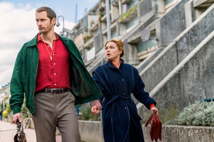 The Little Drummer Girl Alexander Skarsgard and Florence Pugh