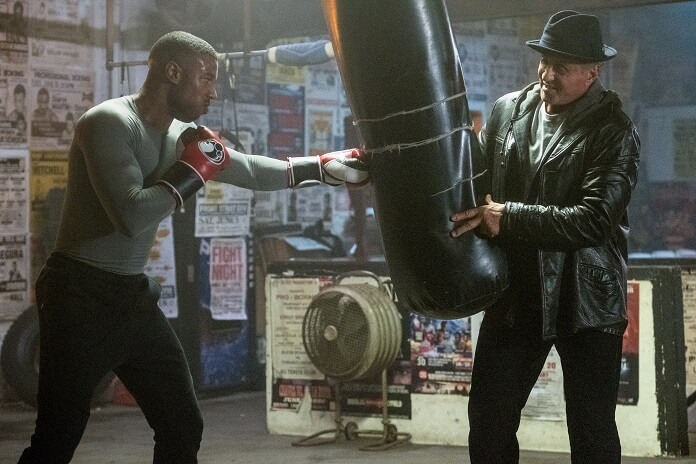Creed II Michael B Jordan and Sylvester Stallone