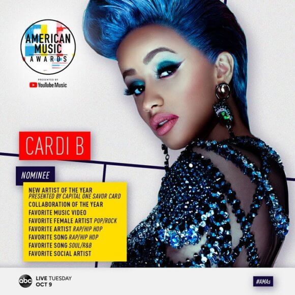 American Music Awards Cardi B