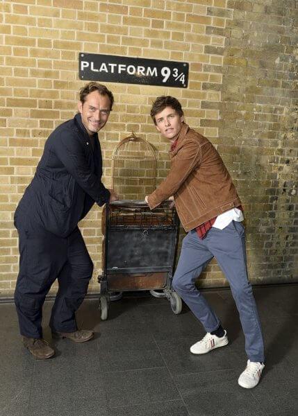 Jude Law and Eddie Redmayne Back to Hogwarts