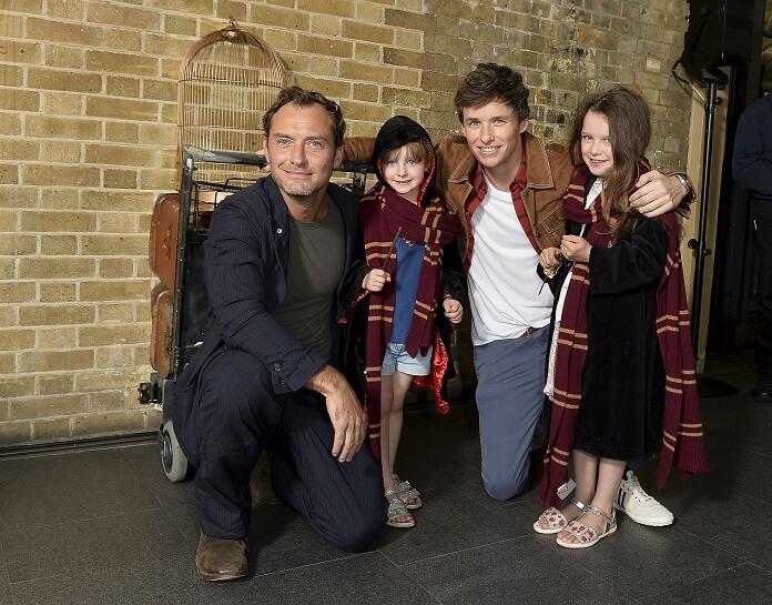 Jude Law Eddie Redmayne Back to Hogwarts