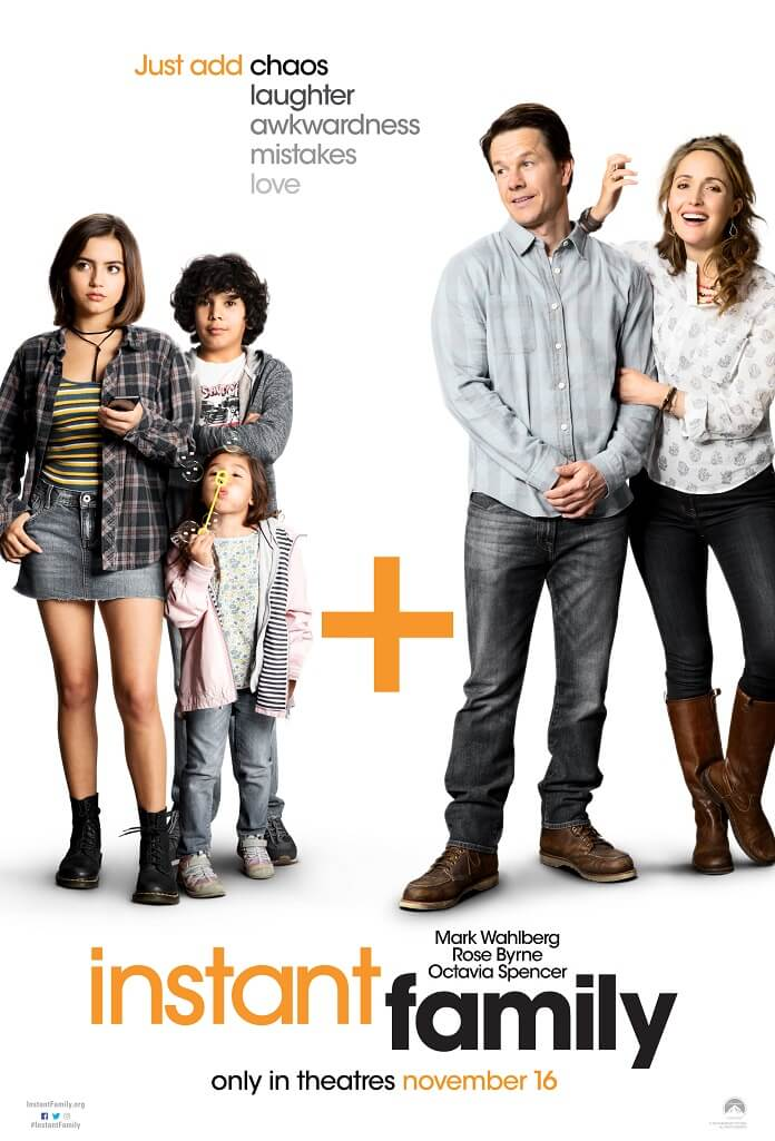 instant family movie poster with mark wahlberg and rose byrne