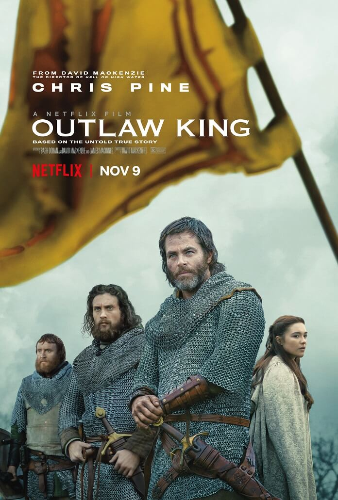 outlaw king new poster arrives featuring chris pine