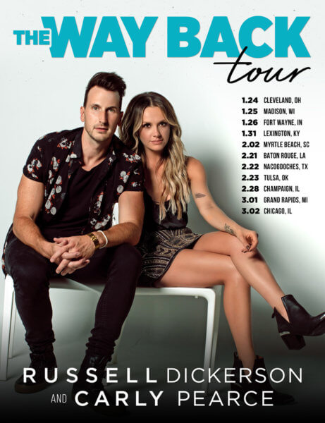 Russell Dickerson and Carly Pearce Tour Dates