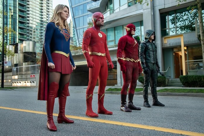 arrow season 7 episode 9  u0026quot elseworlds  part 2 u0026quot  crossover photos and plot