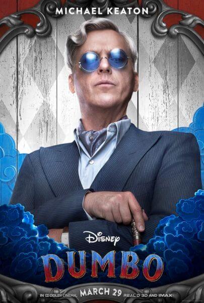 Dumbo Michael Keaton Poster