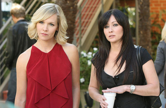 90210 Jennie Garth and Shannen Doherty