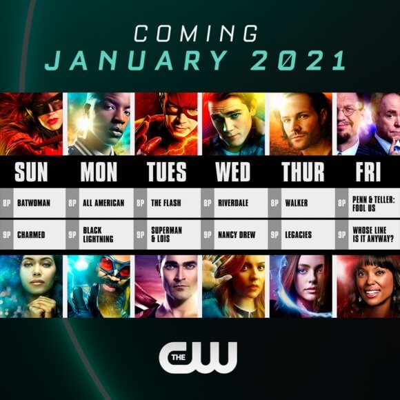 The CW January 2021 Schedule