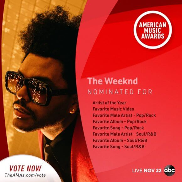 2020 American Music Awards The Weeknd