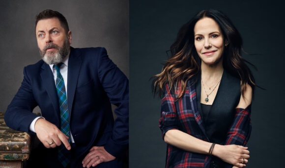 Nick Offerman Mary-Louise Parker