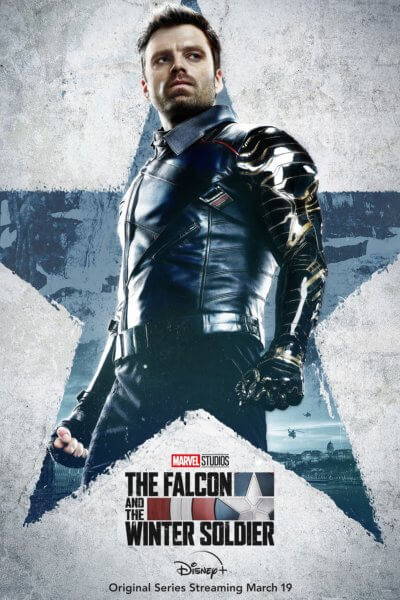 The Falcon and the Winter Soldier Sebastian Stan Poster