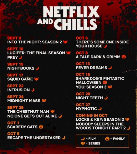 Netflix and Chills 2021 Calendar